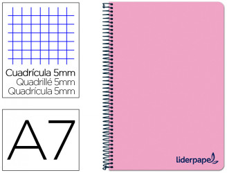Cuadernos espiral tapa plastico