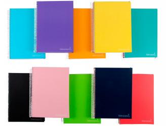 Cuadernos espiral tapa forrada extradura