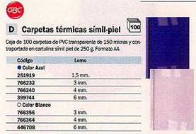 446708: Imagen de GBC CARPETAS TERMICA
