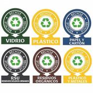 Etiqueta para reciclaje de basura