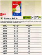 708153(1/10): Imagen de APLI ETIQUETAS 10 ES