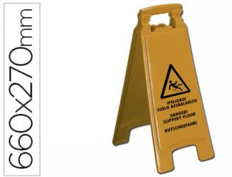 """cartel de señalizacion """"suelo mojado"""""""