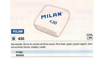 095452(1/30): Imagen de MILAN GOMA DE BORRAR