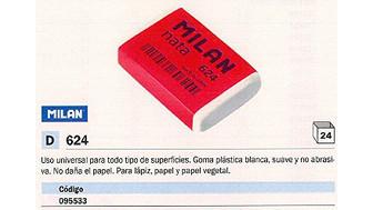 095533(1/24): Imagen de MILAN GOMA DE BORRAR