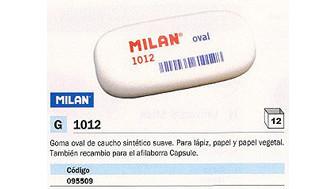 095509(1/12): Imagen de MILAN GOMA DE BORRAR