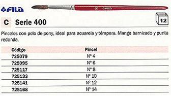725079(1/12): Imagen de FILA PINCEL Nº4 PEL