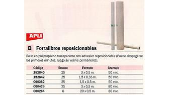 000262(1/25): Imagen de APLI FORRO LIBRO 1,5