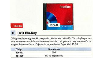 454360: Imagen de IMATION BLU-RAY DISC