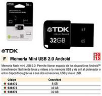 938472: Imagen de TDK MEMORIAS USB 2.0