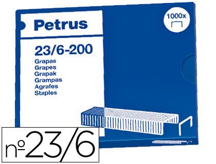 Grapas ENVASE DE 25 UNIDADES 25 UD GRAPAS PETRUS Nº 23/6 -CAJA DE 1000