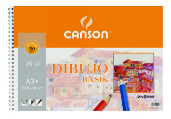 CANSON BLOC GAMA DIBUJO BASIC 20 HOJAS A3 150 GR 200400694