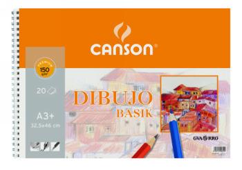 CANSON BLOC DIBUJO BASIK DIN A3 32.5X46 CM 20 HOJAS DE 150 GRAMOS 200400694