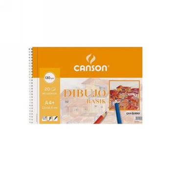 ENVASE DE 10 UNIDADES CANSON BLOC DIBUJO BASIK DIN A4 ESPIRAL 23 X 32.5 CM 20 HOJAS MICROPERFORADO CON RECUADRO 200408061