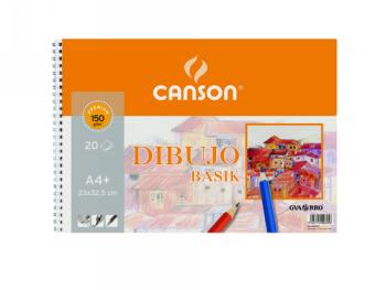 Blocs de dibujo CANSON BLOC DIBUJO BASIK DIN A4 23X32.5 CM 20 HOJAS DE 150 GRAMOS