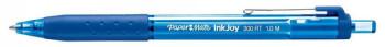 ENVASE DE 12 UNIDADES BOLIGRAFO PAPER MATE INKJOY 300 RT PUNTA MEDIA TRAZO 1MM RETRACTIL CLIPS METALICO SUJECION CAUCHO COLOR AZUL