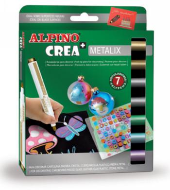 ALPINO CREA ESTUCHE 7 ROTULADORES METALIX AR000134