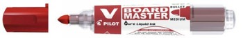 ENVASE DE 10 UNIDADES ROTULADOR PILOT V BOARD MASTER PARA PIZARRA BLANCA ROJO TINTA LIQUIDA TRAZO 2,3MM