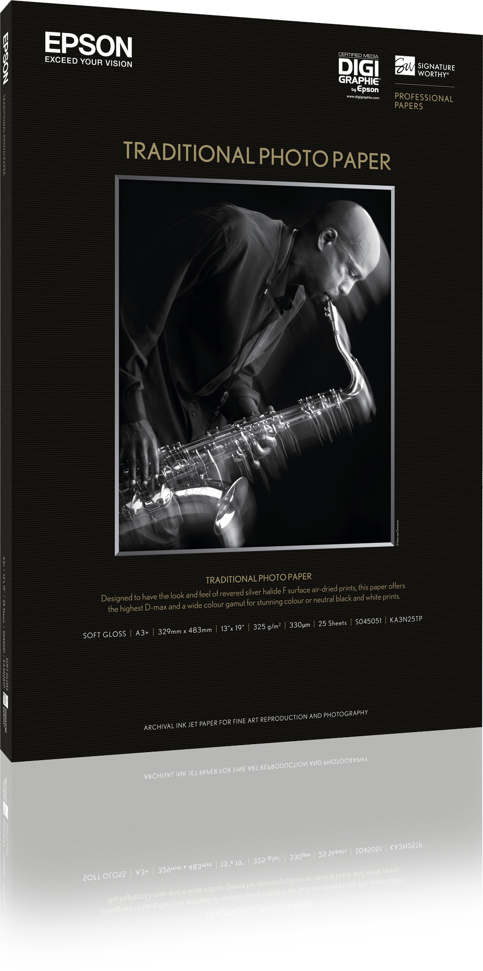 Traditional Fotografico Paper 24 pulgadas X36 pulgadas 25 hojas S045053