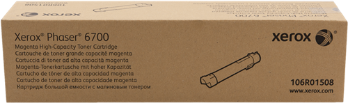 CARTUCHO DE TÓNER MAGENTA ALTA XEROX-TEKTRONIX 106R1508