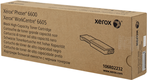 CARTUCHO DE TÓNER NEGRO XEROX-TEKTRONIX 106R2232