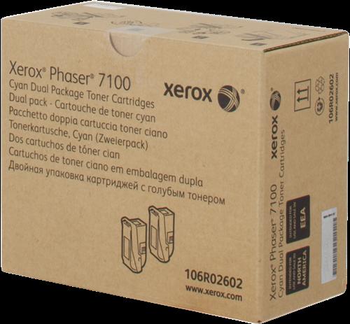 CARTUCHO DE TÓNER CIAN PACK 2 XEROX-TEKTRONIX 106R2602