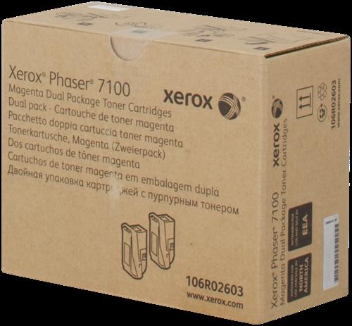 CARTUCHO DE TÓNER MAGENTA PACK 2 XEROX-TEKTRONIX 106R2603