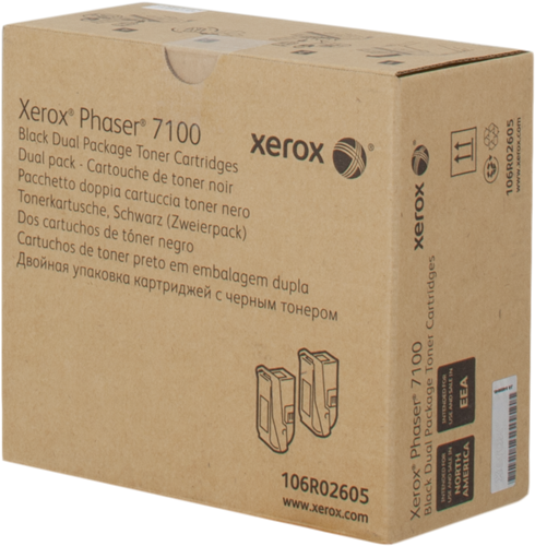 CARTUCHO DE TÓNER NEGRO PACK 2 XEROX-TEKTRONIX 106R2605
