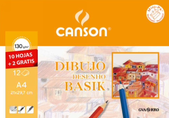 CANSON PAPEL 10 HOJAS A4 130 GR 400045613