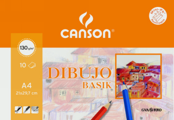 CANSON BLOC DIBUJO BASIK 10 HOJAS A3 130 GR 200403159