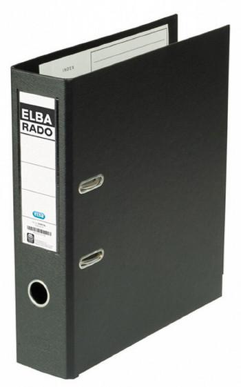 ELBA ARCHIVADOR PALANCA RADO PLAST A4 LOMO 80MM NEGRO LC127XLBKBP