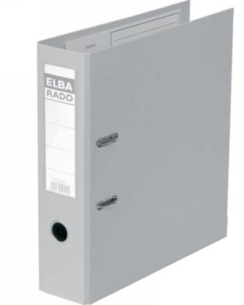ELBA ARCHIVADOR PALANCA RADO PLAST A4 LOMO 80 MM GRIS 100022629