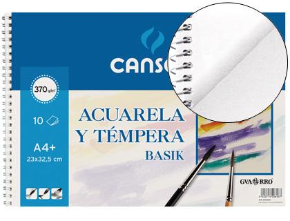 ENVASE DE 10 UNIDADES CANSON PAPEL ACUARELA 10 HOJAS A3+ 370 G 200400697