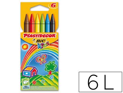 PLASTIDECOR ESTUCHE 6 UD COLORES SURTIDOS 875773