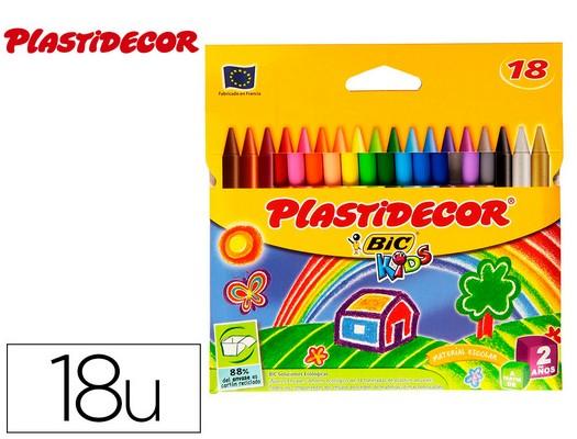 PLASTIDECOR ESTUCHE 18 UD COLORES SURTIDOS SOBRE PAPEL SATINADO 875771