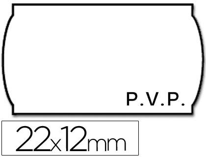 Etiquetas ETIQUETAS METO ONDULADAS 22 X 12 MM PVP BL. ADH 2 -ROLLO 1500 ETIQUETAS
