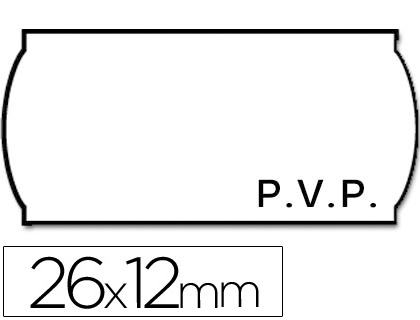 Etiquetas ETIQUETAS METO ONDULADAS 26 X 12 MM PVP BL. ADH 2 -ROLLO 1500 ETIQUETAS TROQUELADAS
