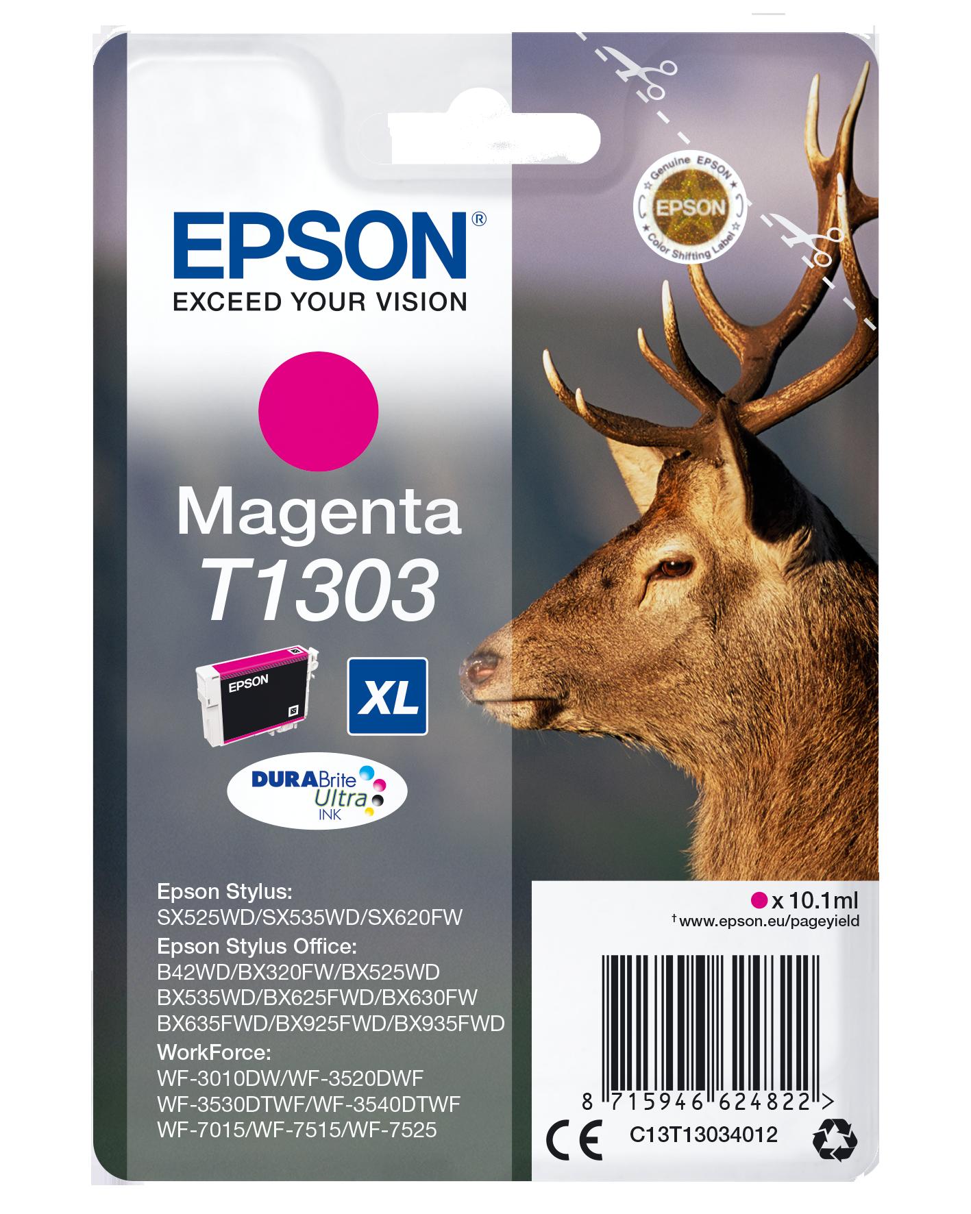 Comprar Cartucho de tinta C13T13034022 de Epson online.