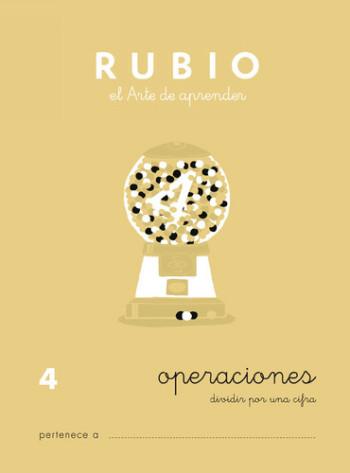 ENVASE DE 10 UNIDADES CUADERNO RUBIO PROBLEMAS Nº 4 PR-4