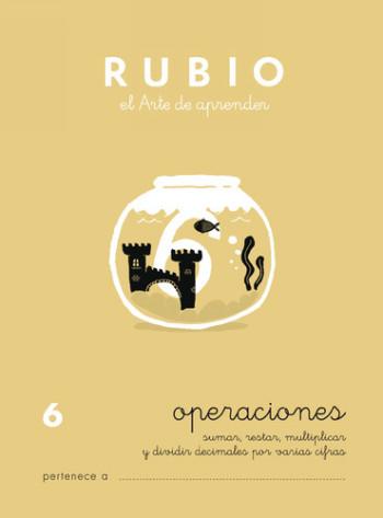 ENVASE DE 10 UNIDADES CUADERNO RUBIO PROBLEMAS Nº 6 PR-6