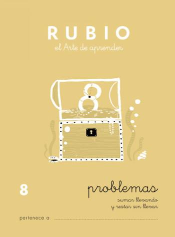 ENVASE DE 10 UNIDADES CUADERNO RUBIO PROBLEMAS Nº 8 PR-8