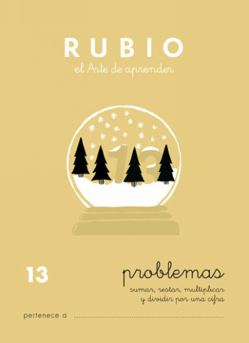 ENVASE DE 10 UNIDADES CUADERNO RUBIO PROBLEMAS Nº 13 PR-13