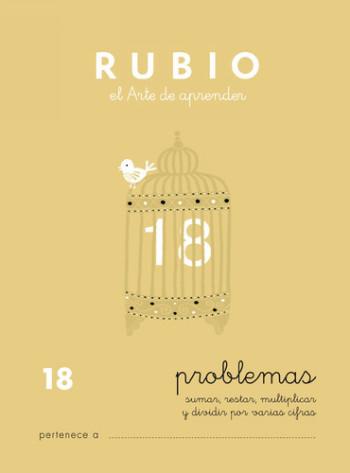 ENVASE DE 10 UNIDADES CUADERNO RUBIO PROBLEMAS Nº 18 PR-18
