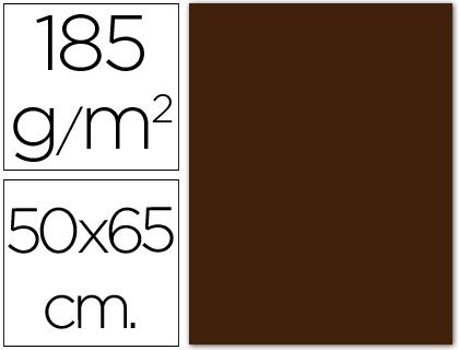 CANSON CARTULINA 25 HOJAS 50X65 CM CHOCOLATE 185 GR 200040242