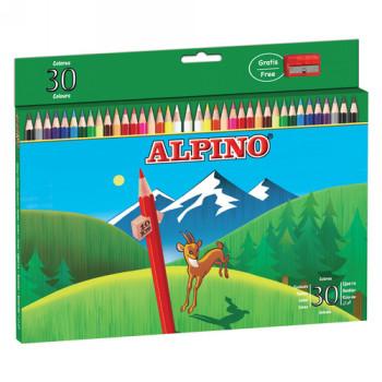 ALPINO LAPICES DE COLORES ALPINO 659 30 COLORES CAJA DE CARTÓN AL000659