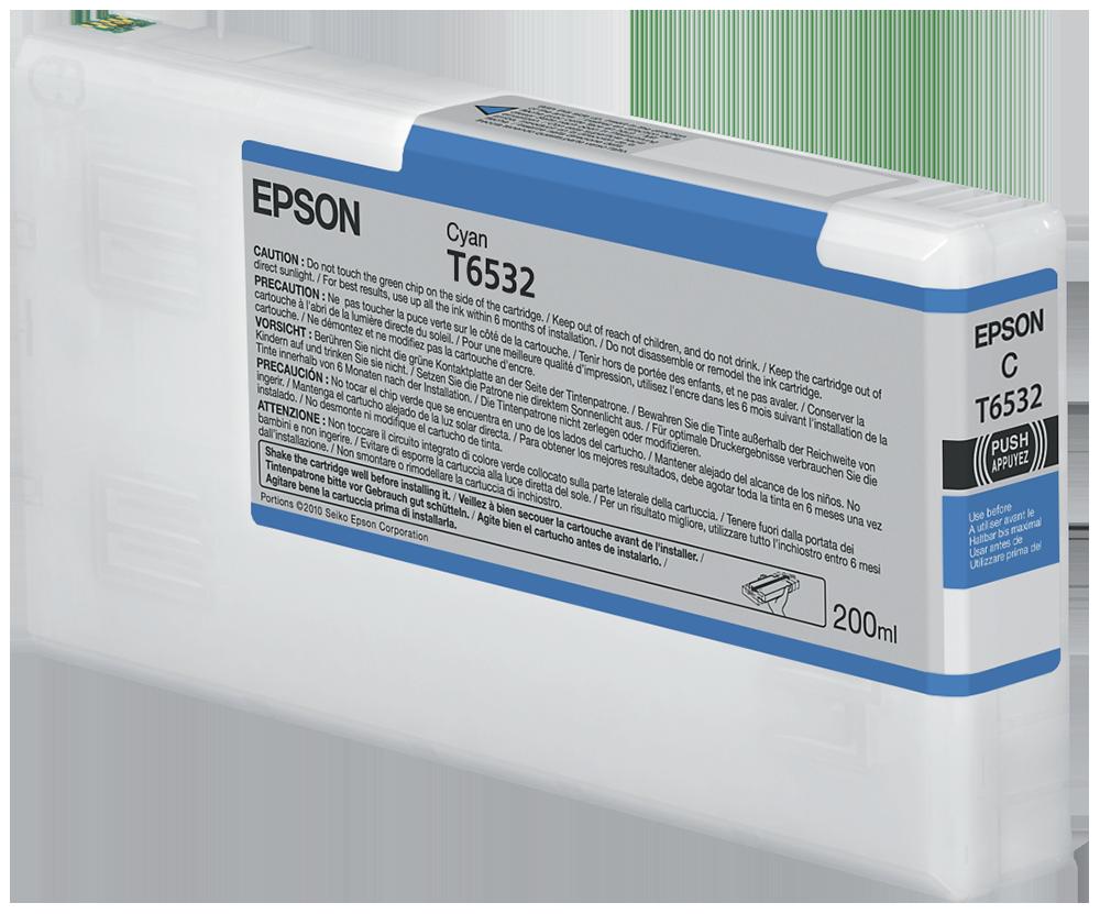 Cartucho de Tinta Cian 200 ml Epson T6532