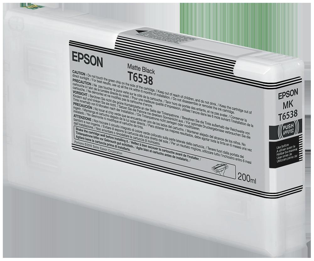Cartucho de Tinta negro Mate 200 ml Epson T6538