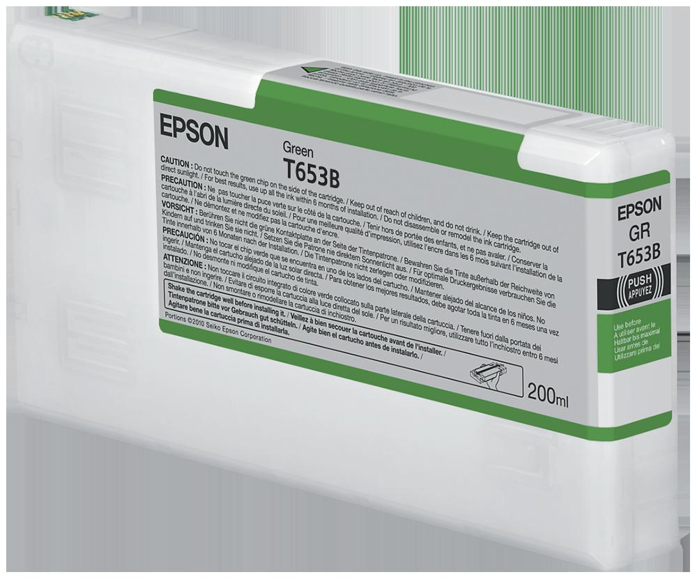 Cartucho de Tinta Verde 200 ml Epson T653B