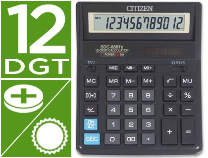 Calculadoras de sobremesa CITIZEN CALCULADORA CITIZEN SOBREMESA SDC-888 HB 12 DIGITOS