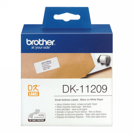 ETIQUETAS DE DIRECCION PEQUEÑAS PAPEL, 29X62 MM BROTHER DK-11209