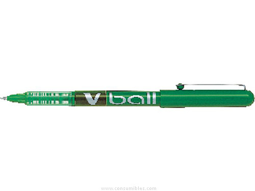 ENVASE DE 12 UNIDADESPILOT ROLLER V BALL 05/ V BALL 07 VERDE TRAZO 0,3 MM TINTA LIQUIDA BL VB5V